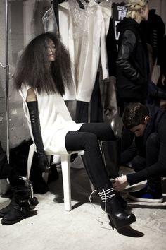 Rick Owens backstage #fashion