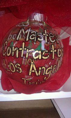 Master Contractor Ornament  $25