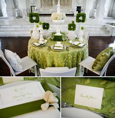 Spring Nuptials with Combo of Green - 16 Most Refreshing and Trendy Spring Wedding Colors - EverAfterGuide