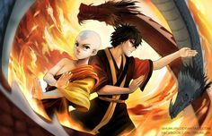 Avatar Aang and Zuko by Shumijin on DeviantArt