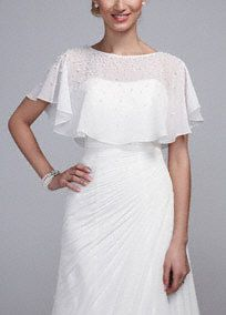 MagBridal Bridal Dresses Online,Wedding Dresses Ball Gown, charming chiffon jacket with exquisite beadings Wedding Dress Capelet, Chiffon Wedding Gowns, Modest Wedding Gowns, Bridal Gowns, Ball Dresses, Ball Gowns, Cocktail Dresses With Sleeves, Bridal Dresses Online, Unconventional Wedding Dress