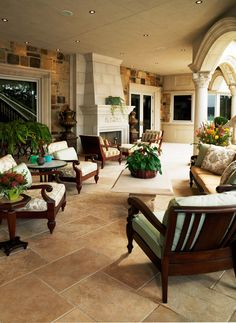 John B. Scholz Architect, Inc. | Lower Level Covered Patio