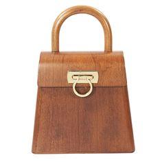 c093d64337d7 BUwood Bumi18 Walnut Wood Top Handle Bag ( 3