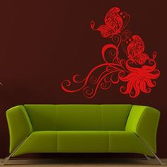 Wall Decal Decor Decals Art Butterfly Flight Insect Wings Beauty Plant Curl Flower (M703) DecorWallDecals http://www.amazon.com/dp/B00GWMD17E/ref=cm_sw_r_pi_dp_oCk2ub039VF56