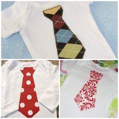 Boys & baby boy Neck Tie Applique Onesie or T shirt  by Greenebaby, $13.00