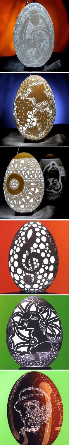 Arte em Casca de Ovo, mas de 3 mil furinhos ;)