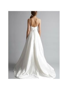 Bridal Straps | Home > Bridal Gowns > All Bridal Gowns > Satin Spaghetti Straps A-Line ...