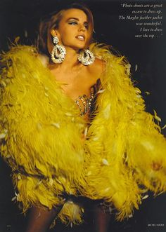 """ Kylie Minogue by Michel Haddi for Vogue UK, December 1990 """