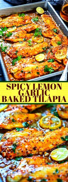 heartymeal tilapia garlic dinner spicy lemon baked Spicy Lemon Garlic Baked TilapiaYou can find Diet dinner recipes and more on our website Healthy Steak Recipes, Quorn Recipes, Easy Healthy Dinners, Raw Food Recipes, Keto Recipes, Health Recipes, Keto Desserts, Healthy Tips, Best Tilapia Recipe