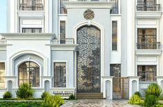 Project – Maram Group Classic House Exterior, Classic House Design, Modern Exterior House Designs, Dream House Exterior, Mediterranean Homes Exterior, Rooftop Design, House Outside Design, Beautiful House Plans, Classic Building