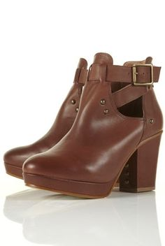 ALEXANDRA Stud Cut-Out Boots - Boots - Shoes - Topshop USA - StyleSays