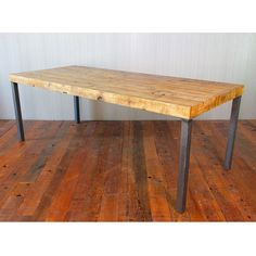 Reclaimed Wood Dining Table - Hudson Steel Legs