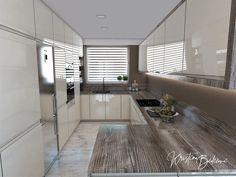 Funkčná elegancia - Dizajn kuchyne s obývačkou - Kristína Bedečová Living Room Kitchen, Luster, Divider, Bathtub, The Originals, Furniture, Home Decor, Google, Image