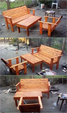 To have a comfortable sort of seating arrangement in the house garden, grabbing the involvement of the wood pallet furniture set piece is the outstanding idea for you. This furniture set is much designed in elegant versions where the presence of the center table piece is rather a great idea to choose.