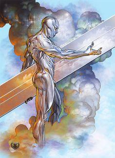 Silver Surfer color by ~Mshindo9 on deviantART