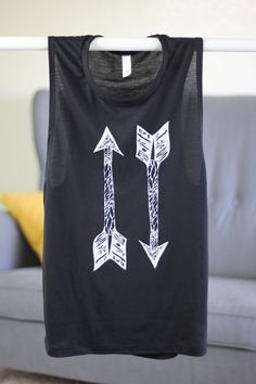 Arrow Tank - Arrow Shirt - Arrow - Yoga Top - Graphic Tee - Graphic Tees For Women - Women's Tops - Yoga - Womens Tshirts - Boho Clothing
