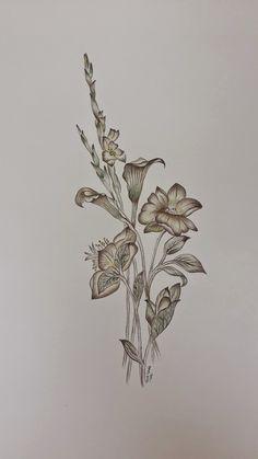 Beautiful Flower Drawings, Beautiful Flowers, Turkish Art, Islamic Art Calligraphy, Botanical Flowers, Mail Art, Floral Motif, Digital Prints, Illustration Art