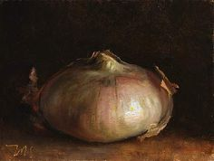 daily painting titled New seasons onion - click for enlargement