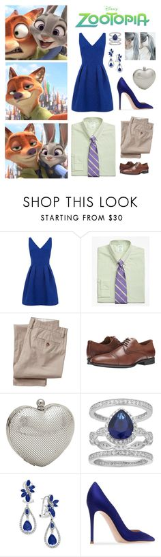 """""""Zootopia (2010s)"""" by emma-be-awesome ❤ liked on Polyvore featuring Brooks Brothers, Old Navy, Aquatalia by Marvin K., Whiting & Davis, SOPHIE MILLER, Effy Jewelry and Gianvito Rossi"""