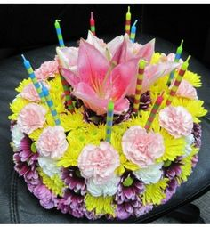 Cake Flower Arrangement Flower Arranging Pinterest Cake