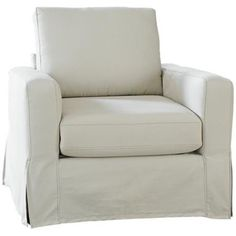 SoFab Lily Ivory Slipcover Chair -