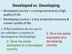 This PowerPoint explains the different factors that Geographers use to determine if a country is developed or developing. The PowerPoints provides explanation for each factor and asks questions about the factor using maps or charts & graphs. Factors discussed include infant mortality rate, literacy rate, life expectancy, gross domestic product, per