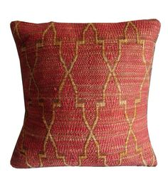 Sofiabrands Dark Orange Bamboo and Cotton 18 x 18 Inch Cushion Cover - Set Of 3