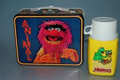 Vintage Muppet Show Animal Metal Lunchbox & Thermos, via Flickr.