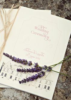 wedding stationery lavender themed  | Photography © - Karen McGowran Photography on French Wedding Style Blog