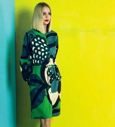 vintage+little: Marimekko Spring/Summer 2015 This is gorgeous! Always love blue and green.