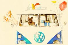 Kombi in watercolor