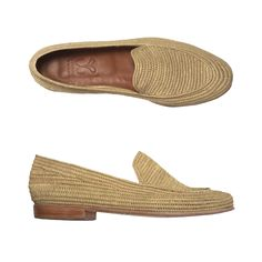 "mocassin raphia naturel ""MARCELLE"" Hand made"