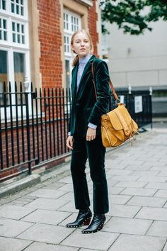 on the street...London Fashion Week