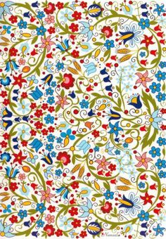 floral pattern-I like this pattern-it's happy