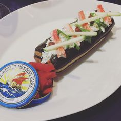 crabe roll food luxe caviar petrossian lunch