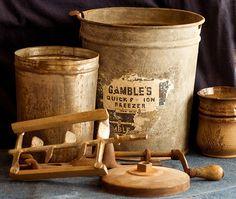 vintage ice cream maker