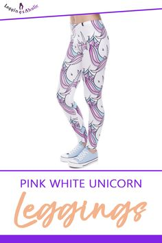 Pink White Unicorn Leggings! Leggings outfit summer, black leggings outfit, stacked leggings outfit, leather leggings outfit, leggings outfit for school, casual leggings outfit, short leggings outfit, plus size leggings outfit, workout leggings outfit, tshirt and leggings outfit, comfy legging outfits, yoga leggings outfit, sports leggings outfit. #blackleggingsoutfit #leatherleggingsoutfit #casualleggingsoutfit #plussizeleggingsoutfit #workoutleggingsoutfit Comfy Legging Outfits, Plus Size Legging Outfits, Leggings Outfit Summer, Leather Leggings Outfit, Plus Size Leggings, Tight Leggings, Yoga Leggings, Workout Leggings, White Capri Leggings