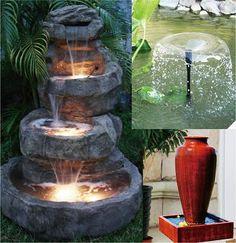 Pompe solaire pour bassin, fontaine, piscine 12v / 24v 750 l/h 8W