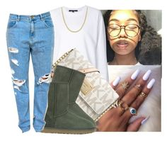 """""""Sweater weather"""" by eazybreezy305 ❤ liked on Polyvore featuring Sofie D'hoore, MICHAEL Michael Kors, UGG Australia, Reeds Jewelers, cute, sweaterweather and Fall2016"""
