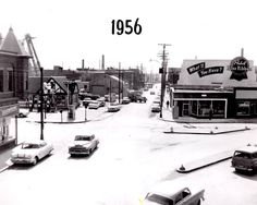 Looking at the intercetion of 14th Washington and Junction in 1956 Racine WI