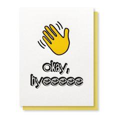 Funny Snarky Goodbye Retirement Emoji Letterpress Card | kiss and punch