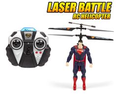 Get your hands on this fun #DCComics Officially Licensed #Superman Laser Battle #rchelicopter from #hobbytron. #rcheli #hthelicopter -- Get yours today for only $39.95.
