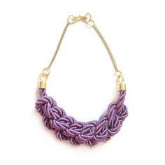 purple knotted silk necklace | Lilla Balazs