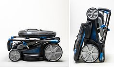 Mac Allister electrical lawnmower by Damien Urvoy, via Behance