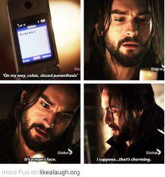 Ichabod gets a text
