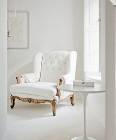 Love the chair and white space.