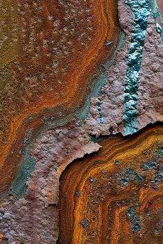 Beauty in Rust - artistic erosion! Colour, texture and pattern inspiration. Metals exposed to the elements...