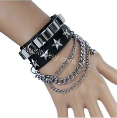 Hey, I found this really awesome Etsy listing at http://www.etsy.com/listing/158546172/punk-rock-fashion-bracelet-leather