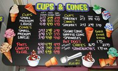 Cups & Cones menu board by Character and Company by karin-b, via Flickr