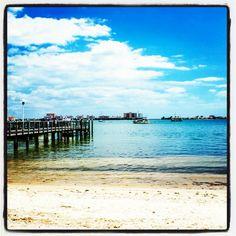 Pier into the blue gulf